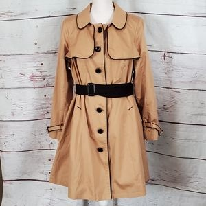Modcloth Trench Coat Size 1X NWOT